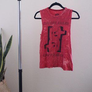 Day Dreamers & Grave Makers Red Muscle Tee XS